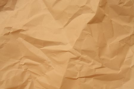 crumpled paper texture: Brown crumpled paper. Texture background