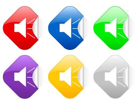 Color sound square stickers photo