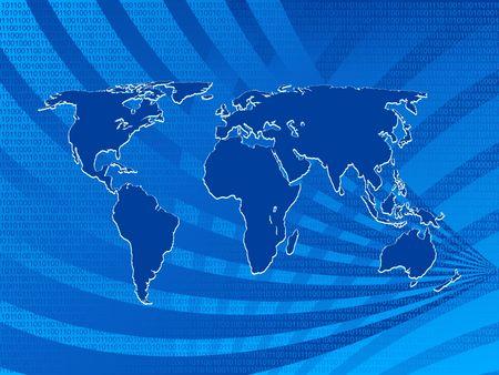programing: Antecedentes mapa del mundo con c�digo binario