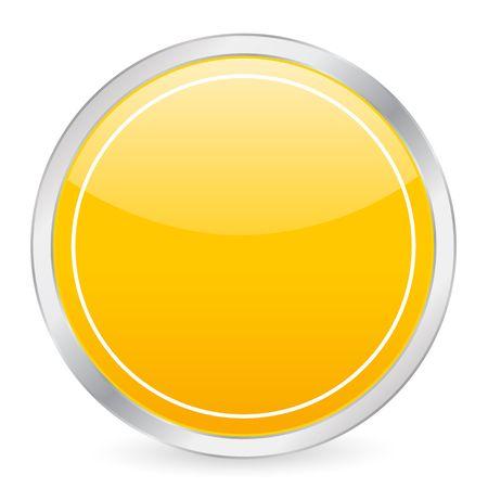 Empty yellow circle icon photo