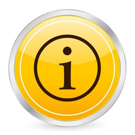 Info symbol yellow circle icon photo