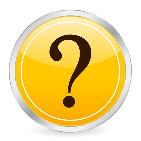 interrogative: Interrogative mark yellow circle icon