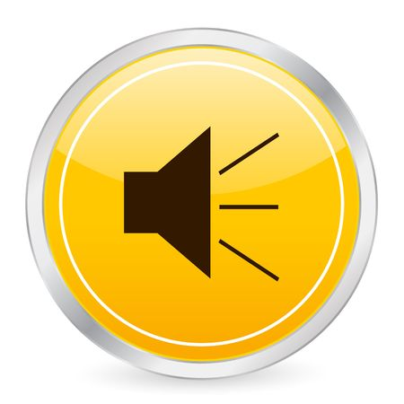 Sound yellow circle icon. photo