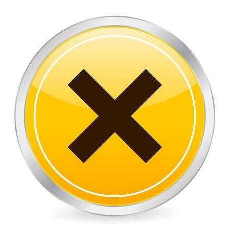 Cancel yellow circle icon photo