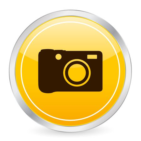 Digital photo yellow circle icon photo