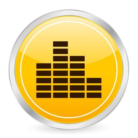 Equalizer yellow circle icon photo