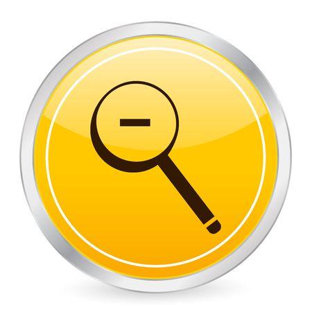 Zoom out yellow circle icon Stock Photo - 3606310