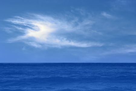 Blue sea with waves and sky. Stock Photo - 3683492