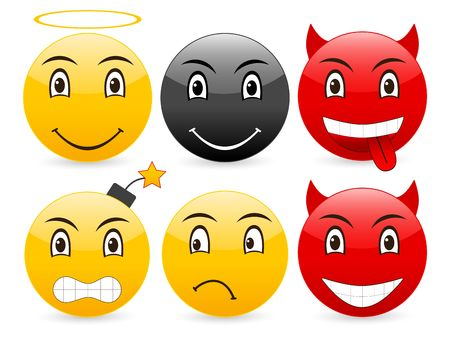 Smile set icon on a white background. Stock Photo - 3683499