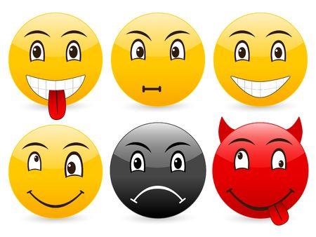 Smile set icon on a white background. photo