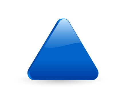 3D blue triangular isolated on white background.  photo