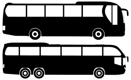 Silhouette bus on a white background.  photo
