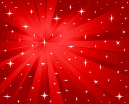 Abstract red vector background with stars. photo