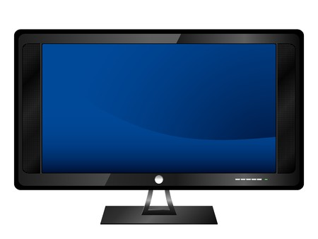Realistic LCD monitor. Stock Photo - 3986510