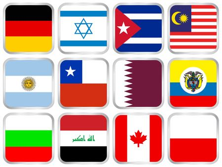 flag, national, icon, button, country, internet, banner Stock Photo - 4984811