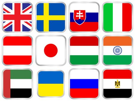 flag, national, icon, button, country, internet, banner photo