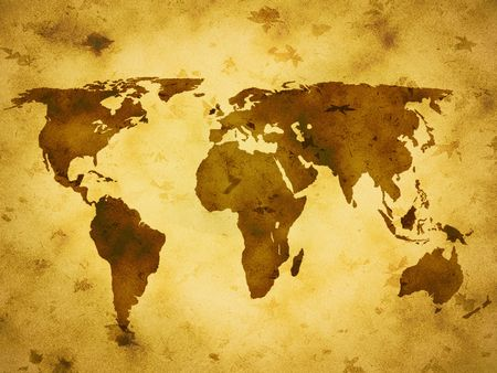 background, paper, grunge, old, world, map photo