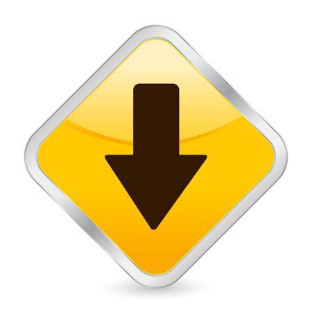 arrow down: button, icon, web, arrow, down, internet, computer