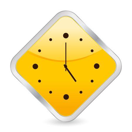 button, icon, web, clock, time, square, internet Stock Photo - 5098608