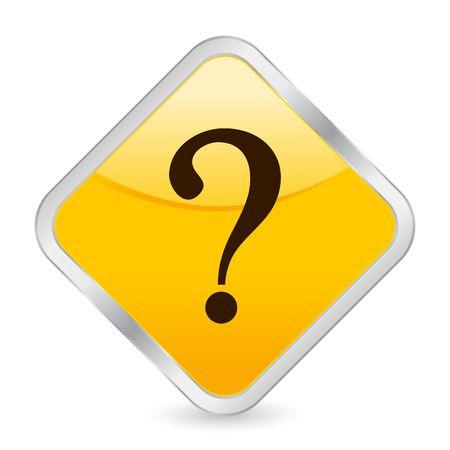 interrogative: bot�n, el icono de Internet, interrogativa, marca, cuesti�n, Internet Foto de archivo