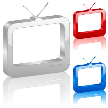 icono, ordenador, televisión, televisión, internet, símbolo