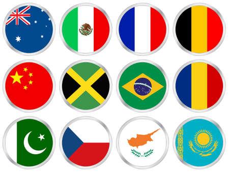 kazakhstan: flags Stock Photo