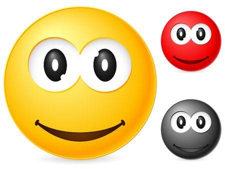 Emoticon isolated on white background. Vector illustration. Stock Illustration - 6231770