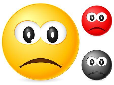 Emoticon isolated on white background. Vector illustration. Stock Illustration - 6231773
