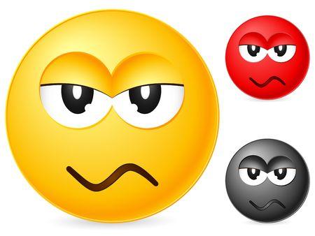 Emoticon isolated on white background. Vector illustration. Stock Illustration - 6231771