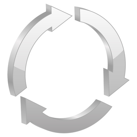 recycle symbol vector: Grey recycle symbol. Vector illustration. Illustration