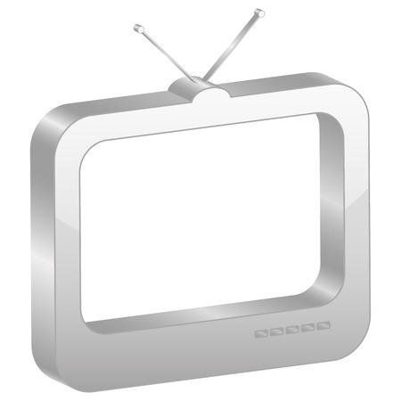 Símbolo de la televisión de la Grey. Ilustración vectorial.