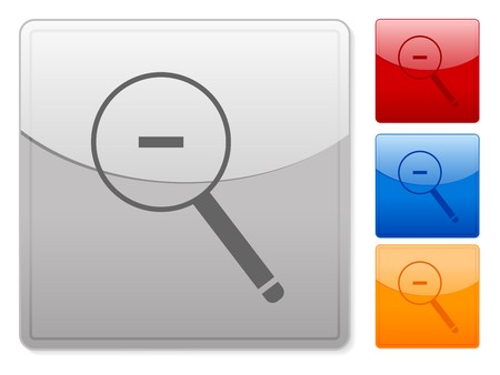 Color square web buttons zoom out on a white background Vector