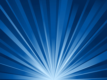 Simple blue rays background. Vector illustration.