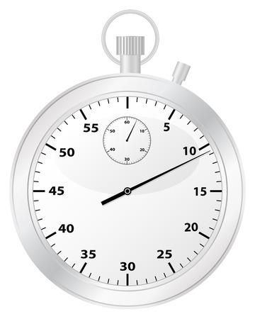 chronometer: Chronometer isolated on a white background. Vector illustration.