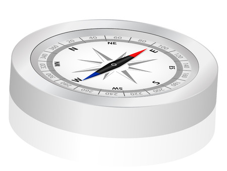 Compass on a white background. Vector illustration. Stock Vector - 8148557
