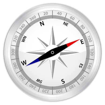Icon compass on a white background. Vector illustration. Stock Vector - 8148562
