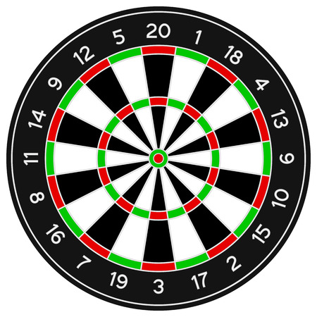 Darts isolated on a white background. Vector illustration. Vector