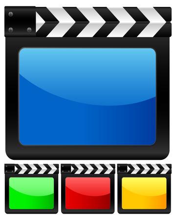 clapper board: Digital movie clapper board. Vector illustration.