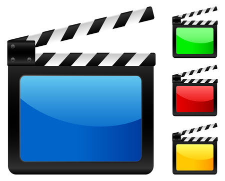 movie clapper: Digital movie clapper board. Vector illustration.