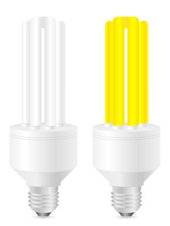 Vector illustration of energy saving light bulbs. Stock Vector - 8148585
