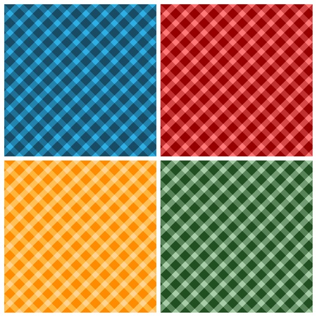 checked: Seamless fabric pattern background. Vector illustration. Illustration