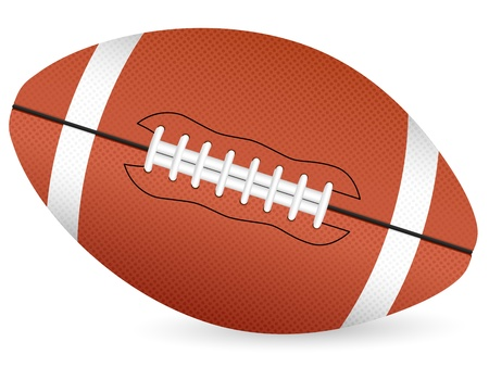 black americans: football ball isolated on a white background. Vector illustration.