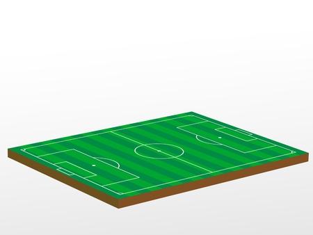 3D green football field. Vector illustration. Stock Vector - 8374786