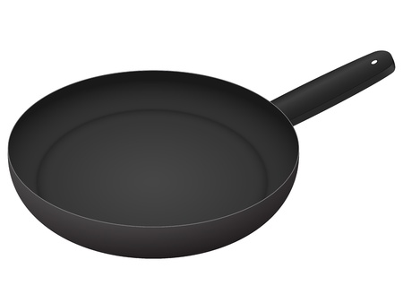 Frying pan isolated on a white background. Vector illustration. Stock Vector - 8374768