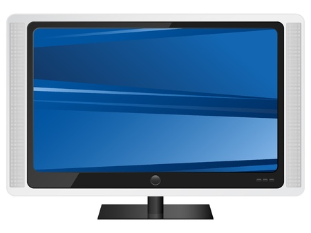 lcd: Lcd tv isolated on white background. Vector illustration.