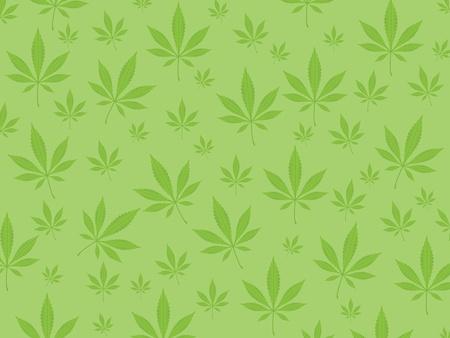 Arrière-plan de feuilles vertes de marijuana. Illustration vectorielle. Vecteurs