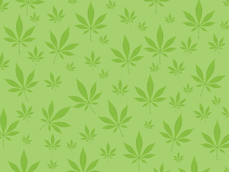 cannabis leaf: Green marijuana leaf background. Vector illustration.