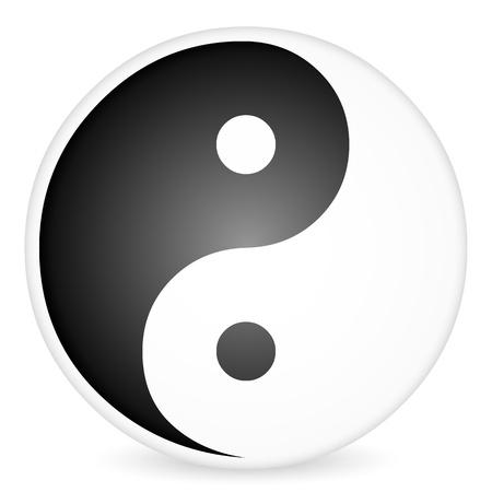 tao: Yin-yang tao symbol on a white background. Vector illustration. Illustration