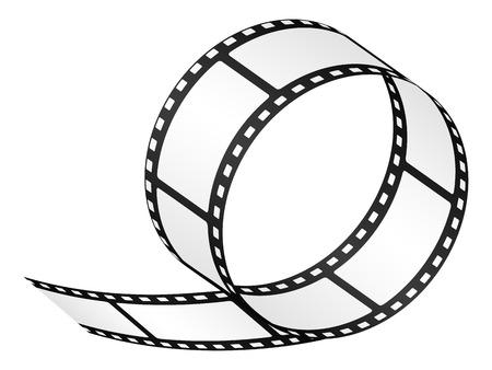 sprocket: Empty film strip isolated on white background. Vector illustration.