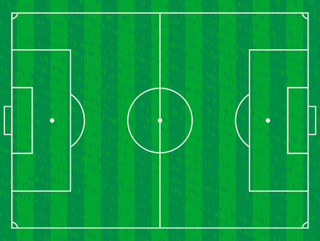 Green football field background. Vector illustration.